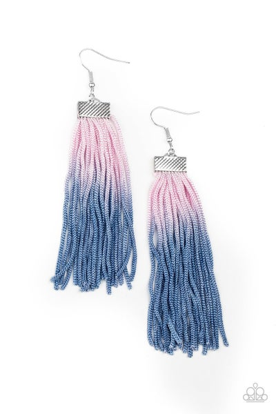 Dual Immersion Pink Blue Earrings