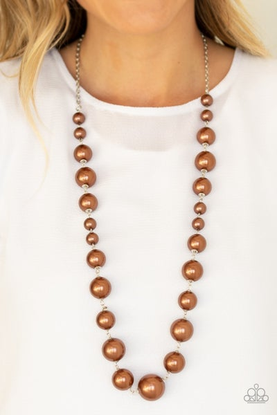 Pearl Prodigy Brown Necklace