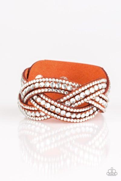 Bring On The Bling Orange Bracelet