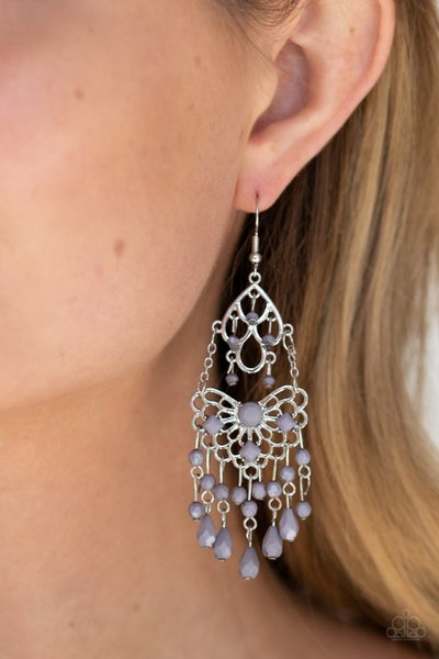 Glass Slipper Glamour Silver Earrings