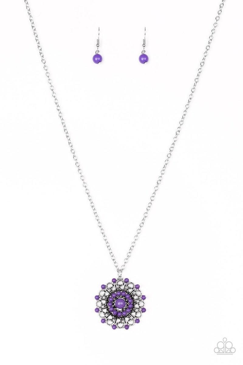 Boho Bonanza Purple Necklace