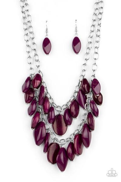 Palm Beach Beauty Purple Necklace