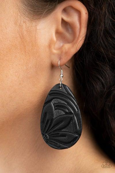 Garden Therapy Black Earrings
