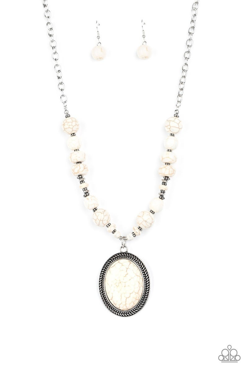 Home Sweet Homestead White Necklace