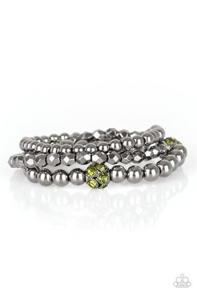 Noticeably Noir Green Gunmetal Bracelet