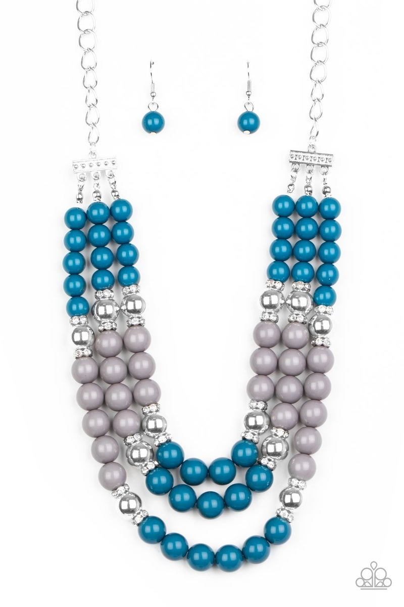 Bead Your Own Drum Blue Necklace
