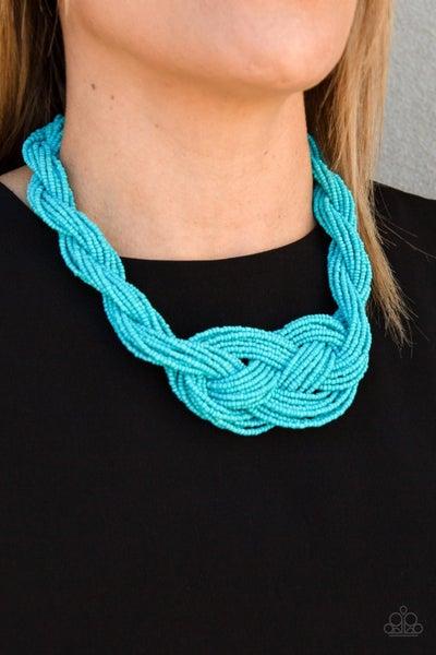 A Standing Ovation Sky Blue Necklace