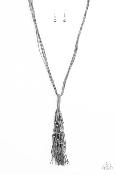 Hand-Knotted Knockout Silver Necklace