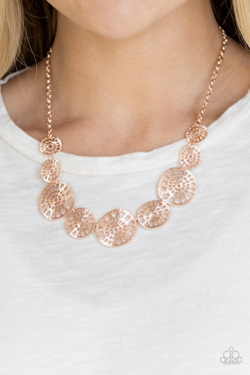 Your Own Free Wheel Rose Gold Necklace