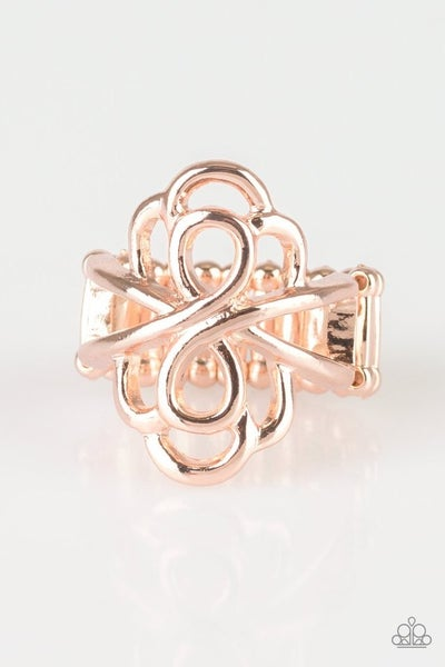 Ever Entwined Rose Gold Ring