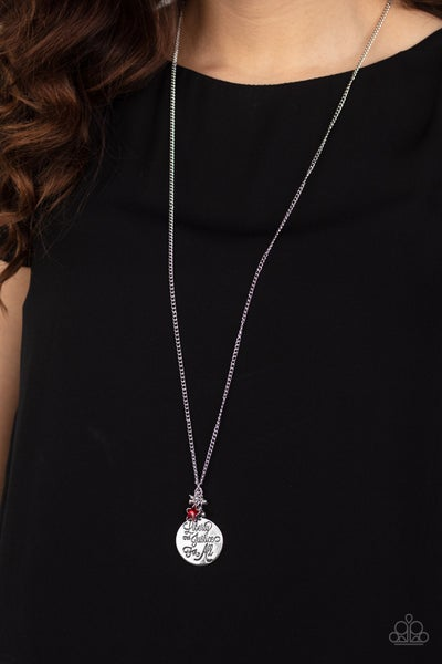 Liberty and Justice For All Red Necklace