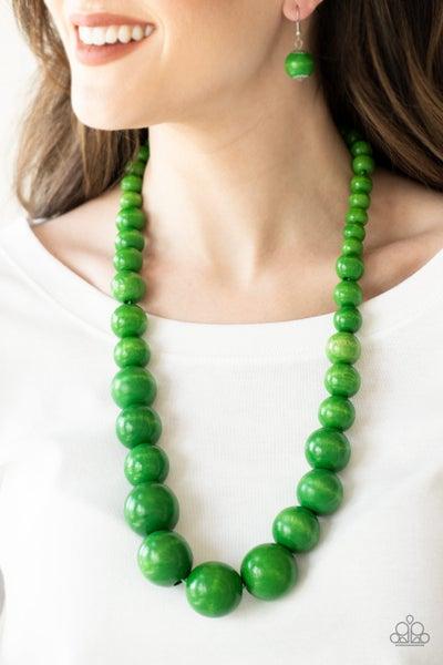 Effortlessly Everglades Green Necklace