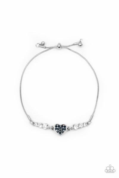 Big-Hearted Beam Blue Bracelet