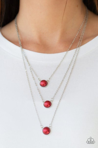 A Love For Luster Red Necklace