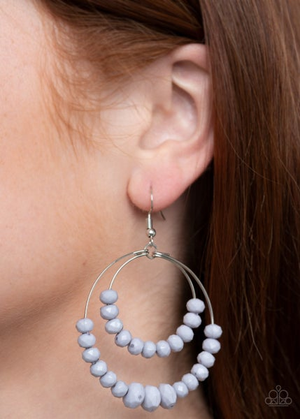 Paradise Party Silver Earrings