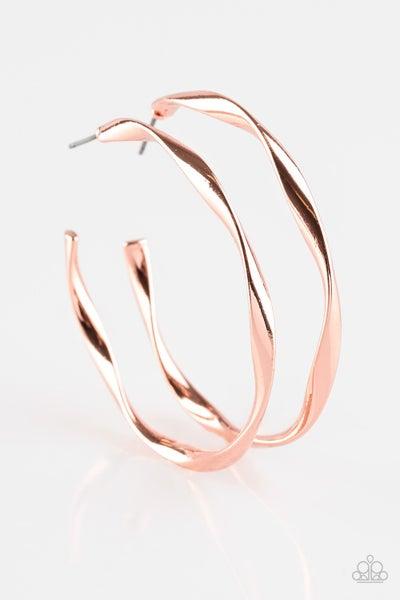 Plot Twist Copper Hoops
