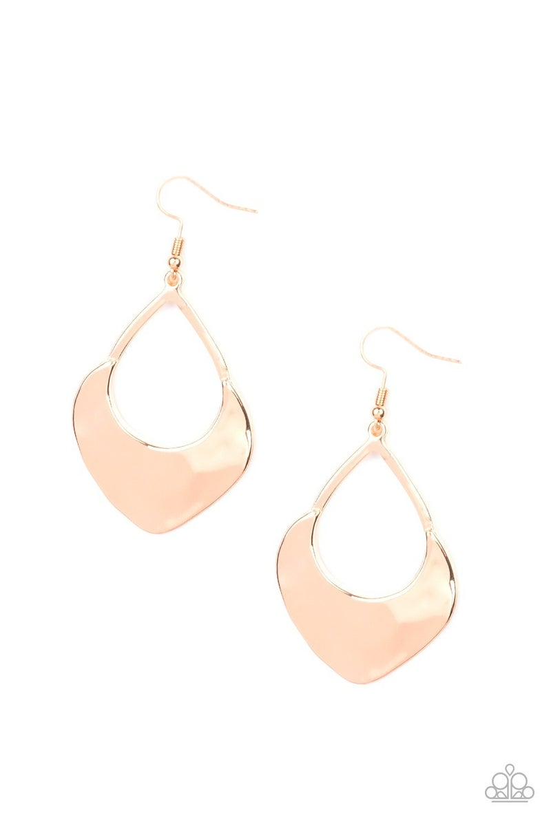 Dig Your Heels In Rose Gold Earrings