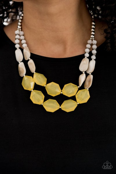 Seacoast Sunset Yellow Necklace (Summer Exclusive)