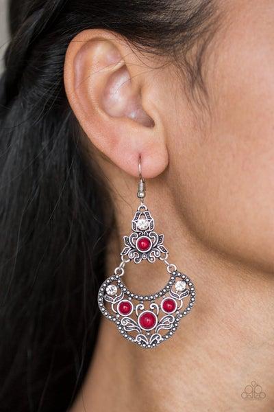Garden State Glow Red Earrings