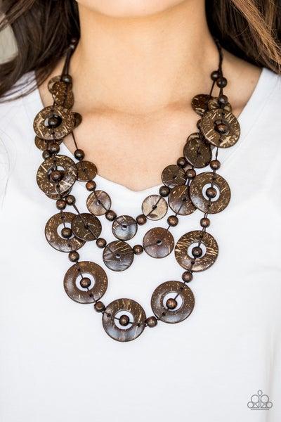 Catalina Coastin' Brown Necklace
