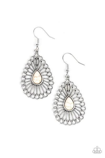 Simply Sedimentary White Earrings