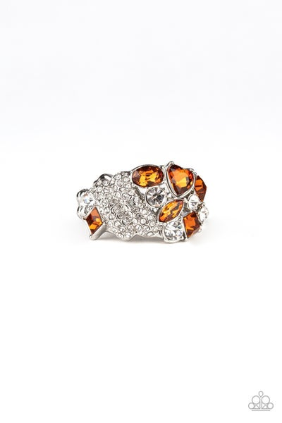 Sparkle Bust Brown Ring