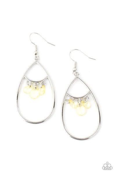 Shimmer Advisory Yellow Earrings