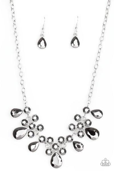 Debutante Drama Silver Necklace