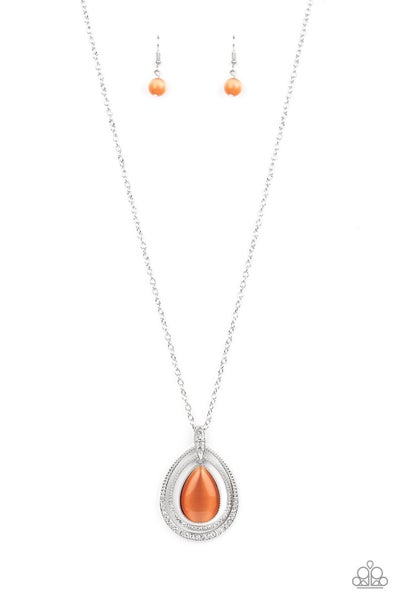 Glow and Tell Orange Necklace
