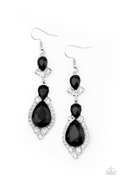 Fully Flauntable Black Earrings