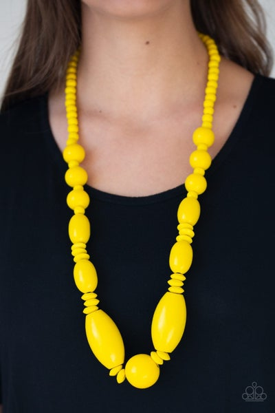 Summer Breezin' Yellow Necklace
