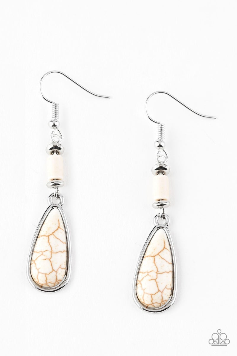 Courageously Canyon White Earrings