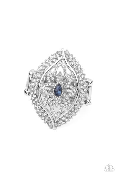 Glammed Up Garden Blue Ring