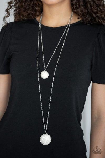 Desert Medallions White Necklace