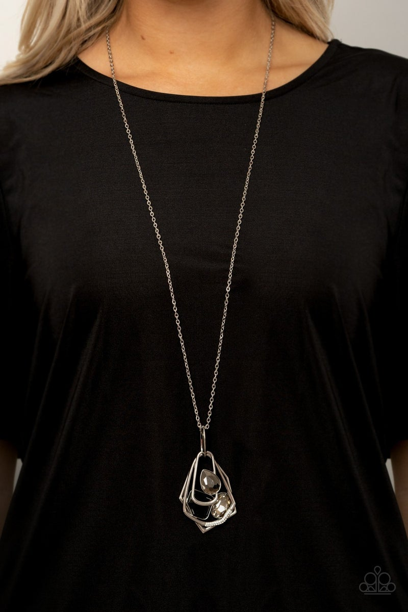All Systems Glow Black Necklace