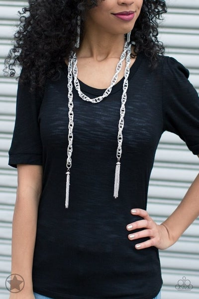 SCARFed For Attention Silver Necklace