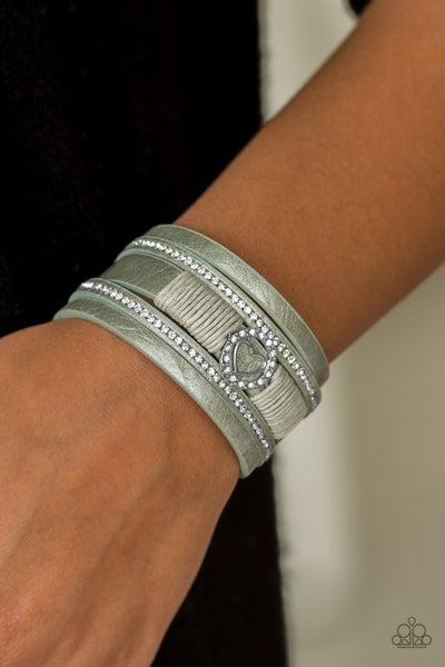It Takes Heart Green Bracelet