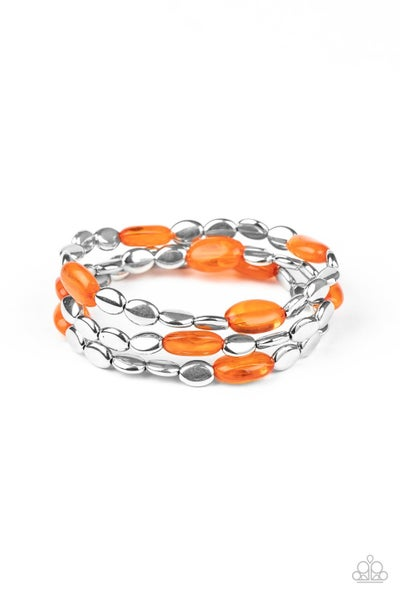 Sorry To Burst Your Bauble Orange Bracelet
