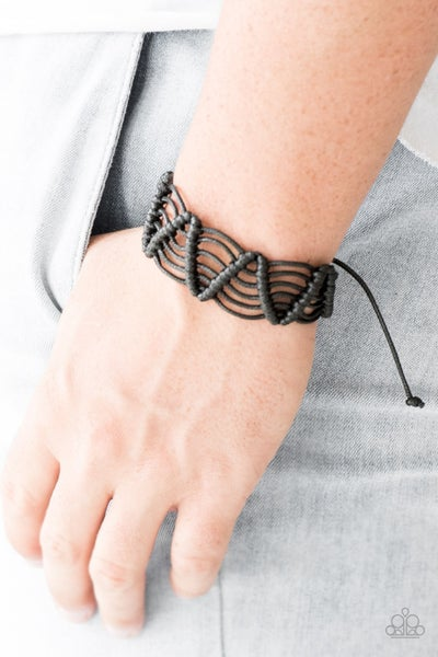 Rise To The Bait Black Urban Bracelet