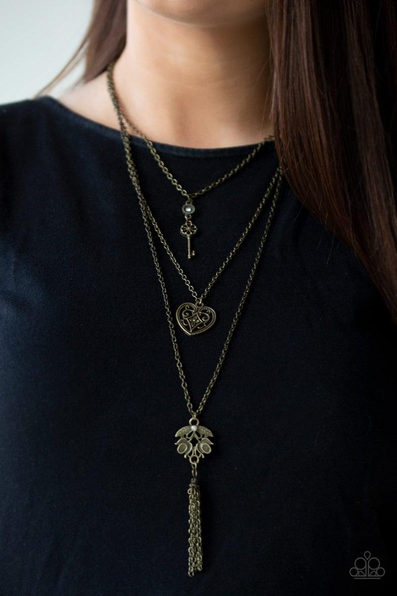 Love Opens All Doors Brass Necklace