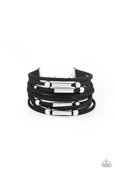 Back To Backpacker Black Bracelet