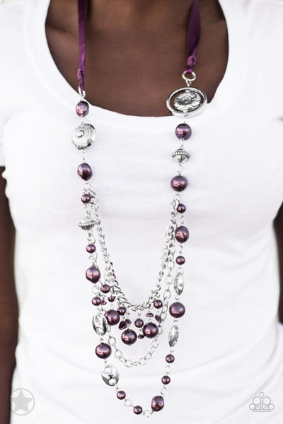 All The Trimmings Purple Necklace