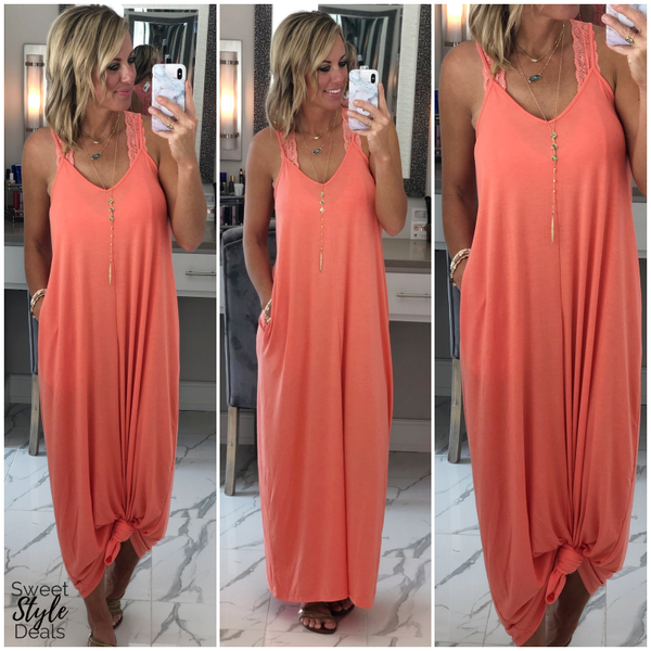 Doorbuster Cami Maxi (July Collection) 2 Colors *Final Sale*