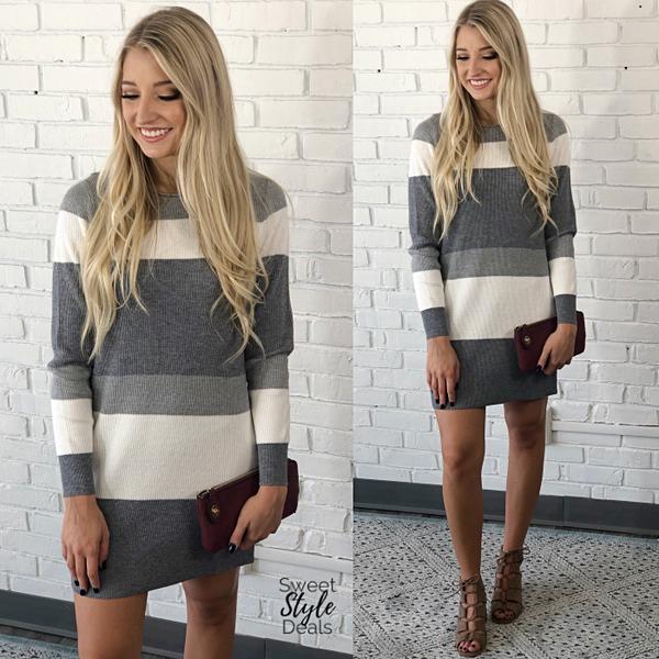 Color Block Sweater Dress *Final Sale*
