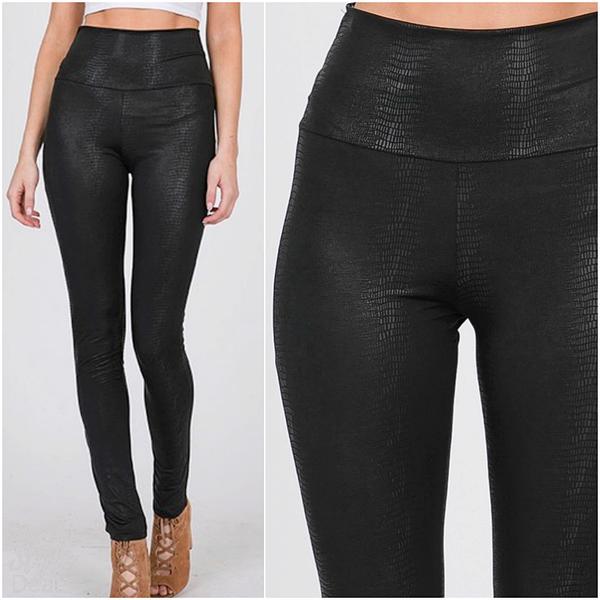 Black Faux Leather Leggings *SALE* *Final Sale*