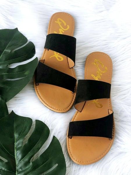 Black Asymmetrical Sandal *Final Sale*
