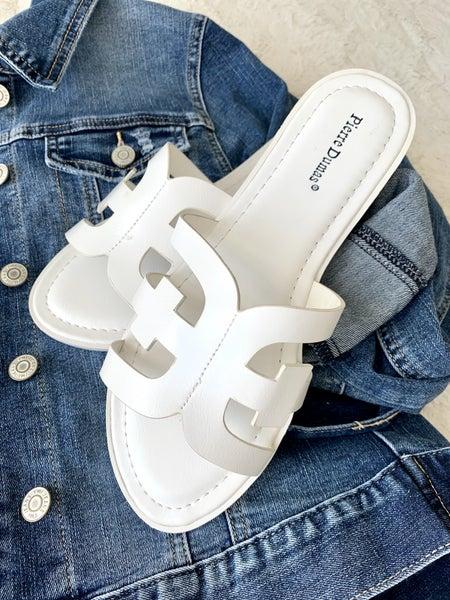 White Whiskey Sandals