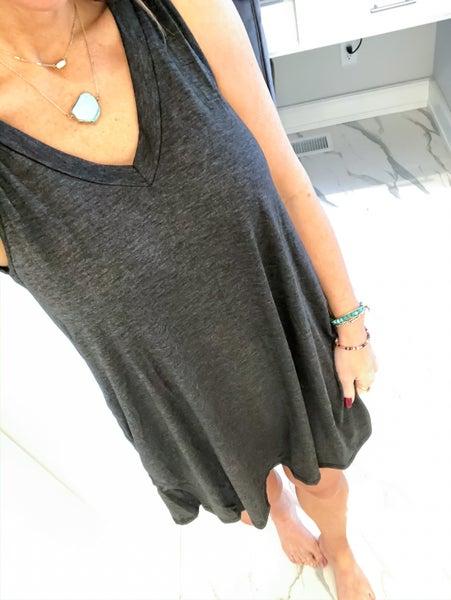 Jersey Vneck Pocket Dress