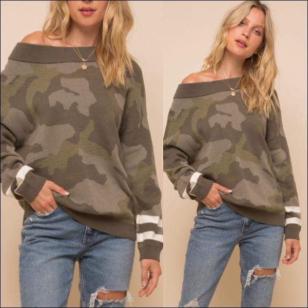 Camo Varsity Sweater