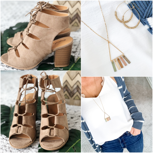 Suede Lace Up Heels (August Collection) 2 Colors *Final Sale*